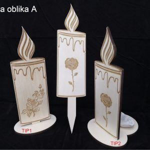 Lesena sveča OBLIKA A
