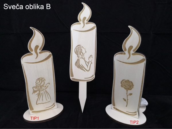lesena sveča